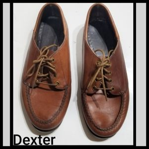 Vtg Brown Leather Lace Up Oxford